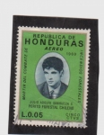 Stamps Honduras -  martir del combate de incendios forestales