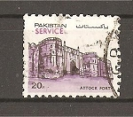 Sellos de Asia - Pakistán -  Vistas./ Srevicio.