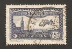 Sellos de Europa - Francia -  avión sobrevolando Marsella