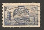 Stamps France -   visita de los soberanos británicos, paseo del palacio wesminster y arco del triunfo
