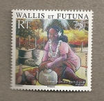 Stamps Oceania - Wallis y Futuna -  Escena de la vida cotidiana