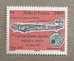 Stamps Oceania - Wallis and Futuna -  1er enlace aereo (1957) Noumea-Hihifo