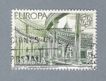 Stamps Spain -  Palacio de Carlos y Granada (repetido)