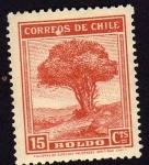 Stamps Chile -  Arbol de boldo