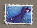 Stamps Switzerland -  Campeonatto Mundial Patinaje hielo Davos