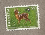 Stamps Switzerland -  Proteged a los animales