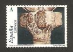 Sellos de Europa - España -  4055 - el románico aragonés, capitel de la iglesia de santiago de jaca
