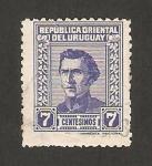 Stamps : America : Uruguay :  general jose gervasio artigas