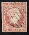 Stamps Europe - Spain -  Isabel II Edifil 48 sin filigrana