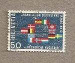 Sellos de Europa - Suiza -  Organismo Europeo Investigación Nuclear
