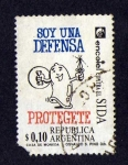 Stamps of the world : Argentina :  Soy una defensa protegete