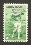 Sellos de America - Estados Unidos -  bobby jones, golfista