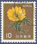 Sellos de Asia - Japón -  JAPÓN Flor amarilla 10