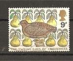 Stamps United Kingdom -  Los doce dias de Navidad.