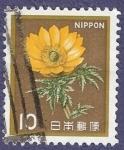 Sellos de Asia - Japón -  JAPÓN Flor amarilla 10 (bis)