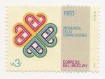 Sellos de America - Uruguay -  Año Mundial de las Comunicaciones