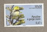 Stamps America - San Pierre & Miquelon -  Parulina de garganta negra