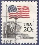 Sellos de America - Estados Unidos -  USA Flag 20 (1)