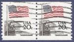 Stamps United States -  USA Flag 20 doble (2)