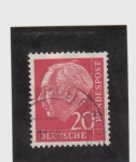 Stamps Germany -  theodoer heuss