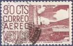 Sellos de America - México -  MÉXICO Arq. moderna 80 aéreo