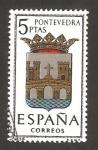 Stamps Spain -  1632 - escudo de pontevedra