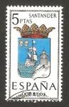 Stamps Spain -  1636 - escudo de santander