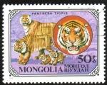 Sellos de Asia - Mongolia -  Tigre