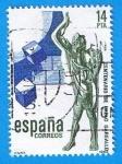 Stamps : Europe : Spain :  Centenario del escultor Pablo gallardo ( El profeta 9