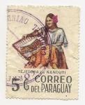 Stamps Paraguay -  Tejedora de Ñanduti