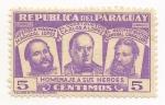 Sellos de America - Paraguay -  Homenaje a sus Héroes