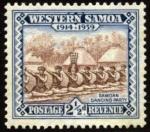 Stamps Oceania - Samoa -  Danza