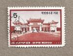 Stamps North Korea -  Cementeriode los mártires revolucionarios