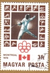 Stamps Hungary -  Juegos Olimpicos Montreal