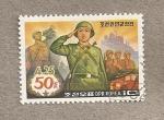 Stamps North Korea -  50 Aniv. del ejercito del pueblo