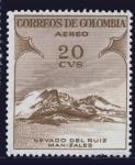 Stamps : America : Colombia :  Nevado del Ruiz