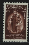Stamps : America : Colombia :  San Vicente Paul