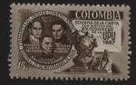 Stamps : America : Colombia :  Primer Convenio Postal