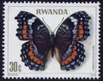 Stamps : Africa : Rwanda :  Mariposa