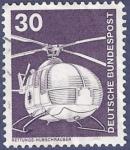 Stamps Germany -  ALEMANIA Transporte helicóotero Rettungs-Hubschrauber 30 (1)