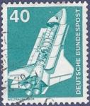 Sellos del Mundo : Europa : Alemania : ALEMANIA Trasnportes Weltraumharbor 40