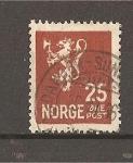 Sellos de Europa - Noruega -  Leon Rampante.