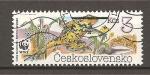 Stamps Czechoslovakia -  Anfibios.