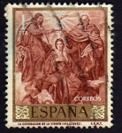 Stamps Spain -  La coronacion de la Virgen