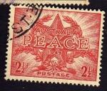 Stamps Australia -  Paz