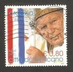 Stamps Europe - Vatican City -  Viaje de Juan Pablo II a Croacia en 2003