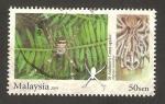 Sellos del Mundo : Asia : Malasia : araña, argiope versicolor