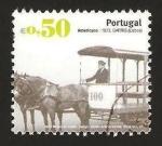 Stamps : Europe : Portugal :  3128 - Transporte público, Americano, vehículo tirado por 2 caballos