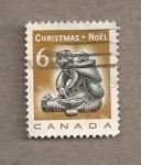 Sellos de America - Canadá -  Madre esquimal con niño, Navidad