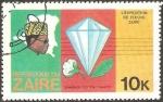 Stamps : Africa : Democratic_Republic_of_the_Congo :  Zaire - expedición por el río zaire, presidente mobutu, diamante, tabaco y algodón